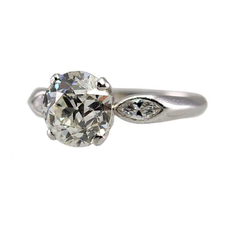Simple 2 01ct Diamond Solitaire Ring at 1stdibs
