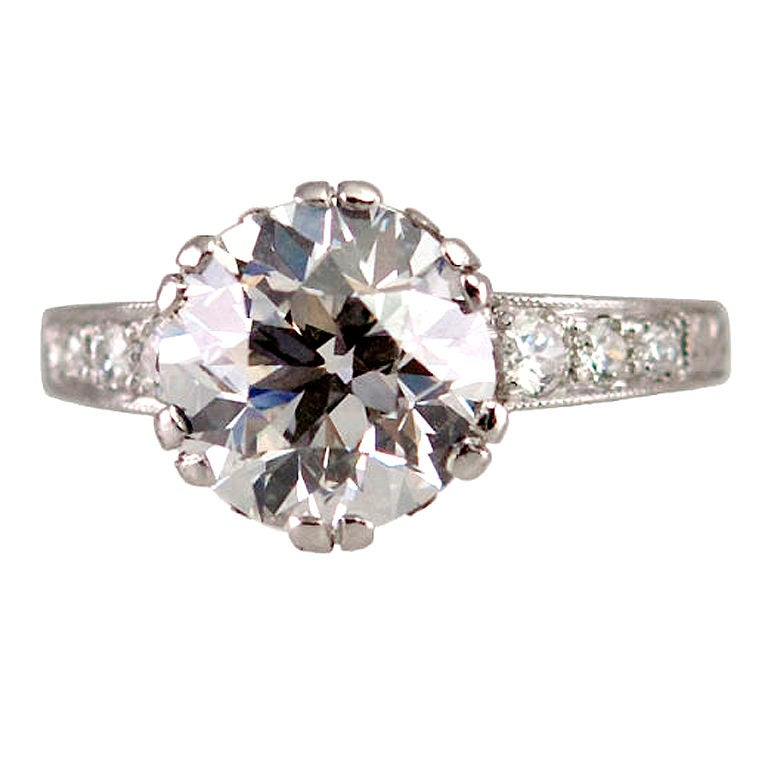 3 13ct Old European Cut Diamond Ring For Sale At 1stdibs