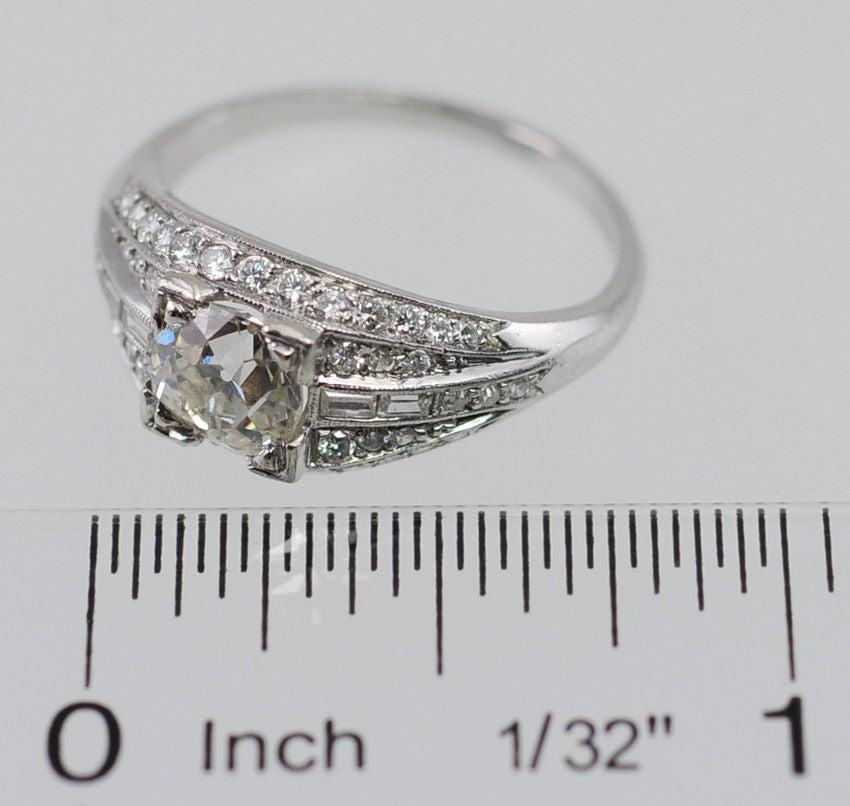 Elegant Deco Diamond Ring For Sale 3
