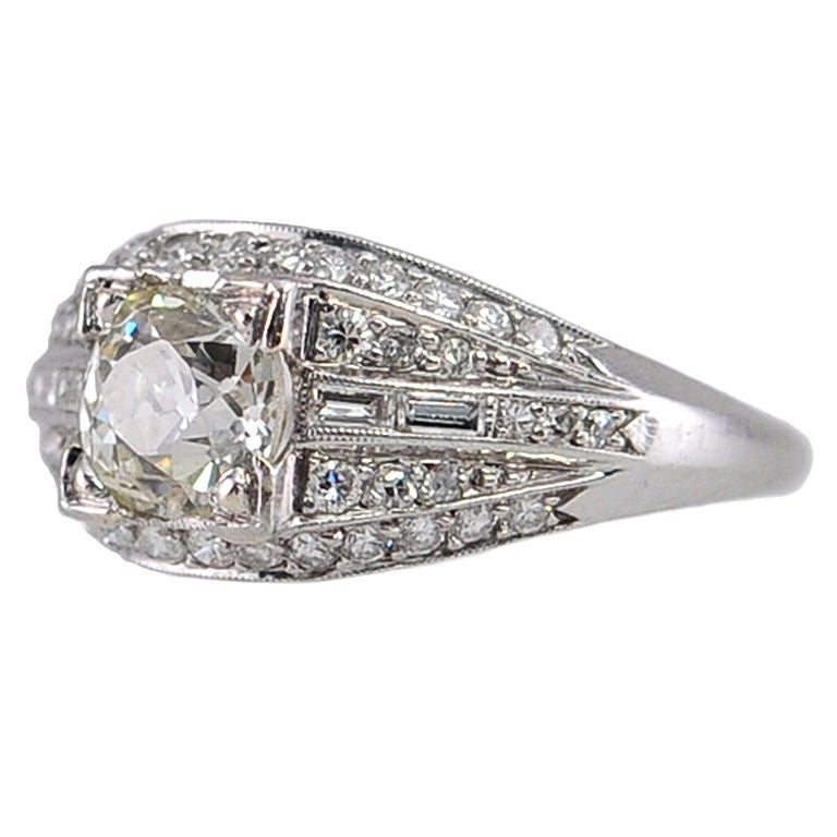 Elegant Deco Diamond Ring For Sale