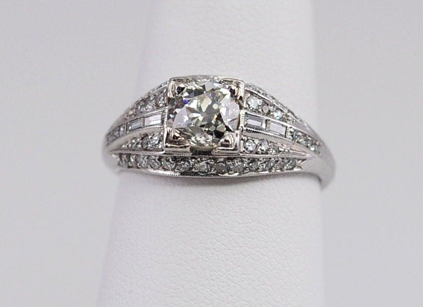 Elegant Deco Diamond Ring For Sale 1