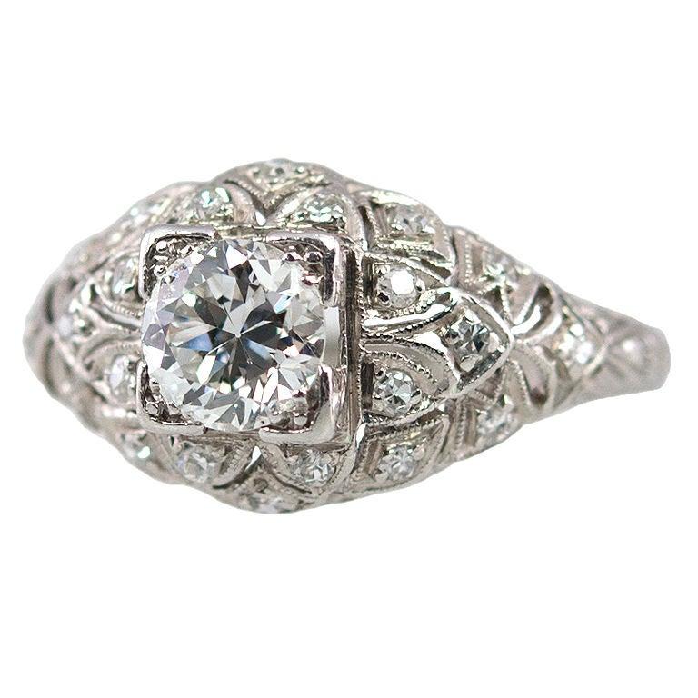 Elegant Diamond Engagement Ring at 1stdibs