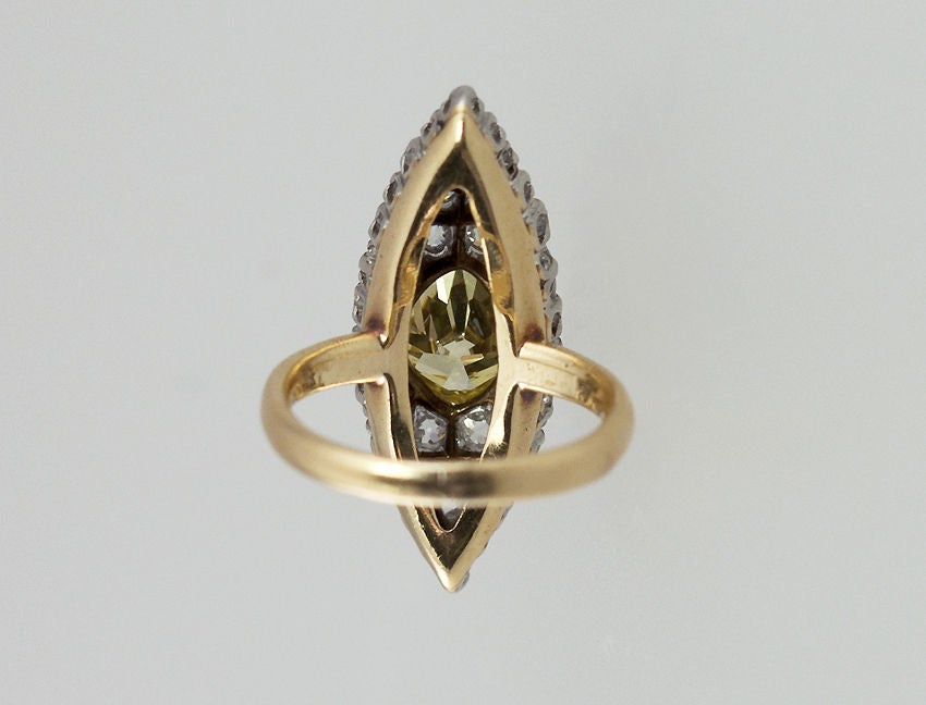 Victorian TIFFANY Fancy Yellow Diamond Ring For Sale