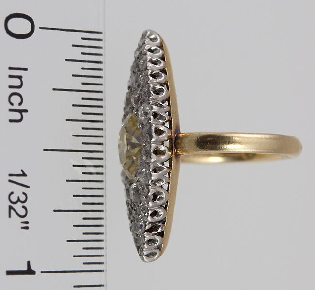 Women's TIFFANY Fancy Yellow Diamond Ring For Sale