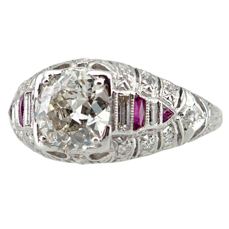 deco and ruby ring at 1stdibs