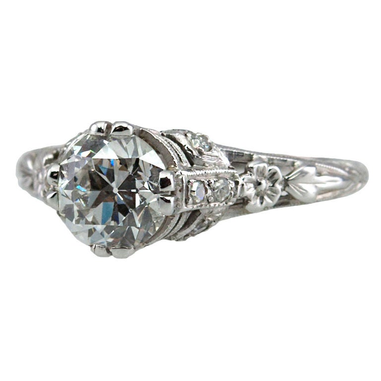Edwardian Engagement Rings For Sale: Edwardian Diamond Engagement Ring For Sale At 1stdibs