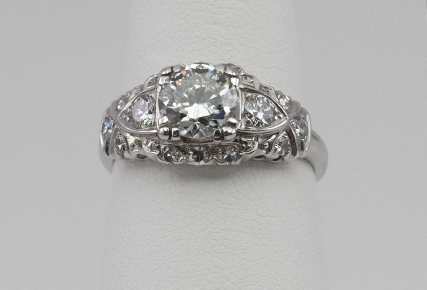 Women's 1940's Diamond Engagement Ring For Sale