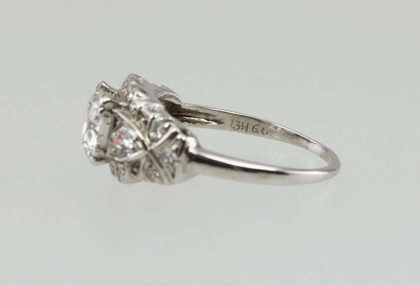 1940's Diamond Engagement Ring For Sale 2