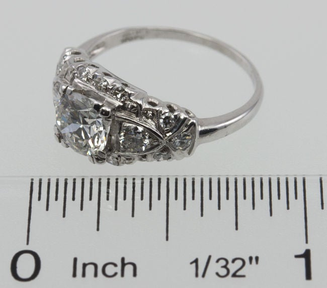 1940's Diamond Engagement Ring For Sale 3