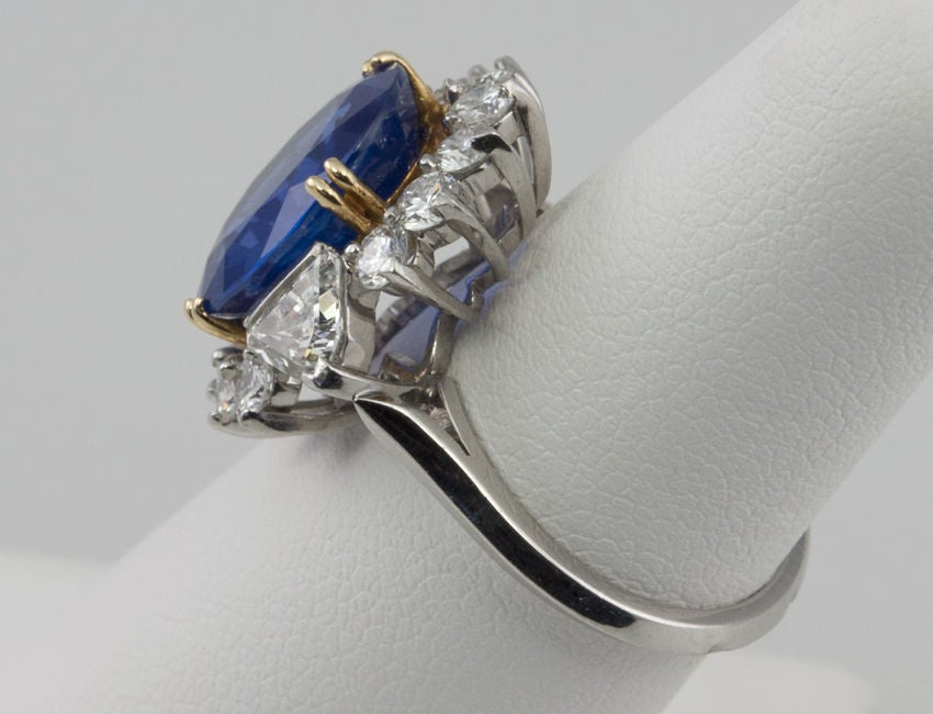 Natural No Heat Sapphire and Diamond Ring image 6