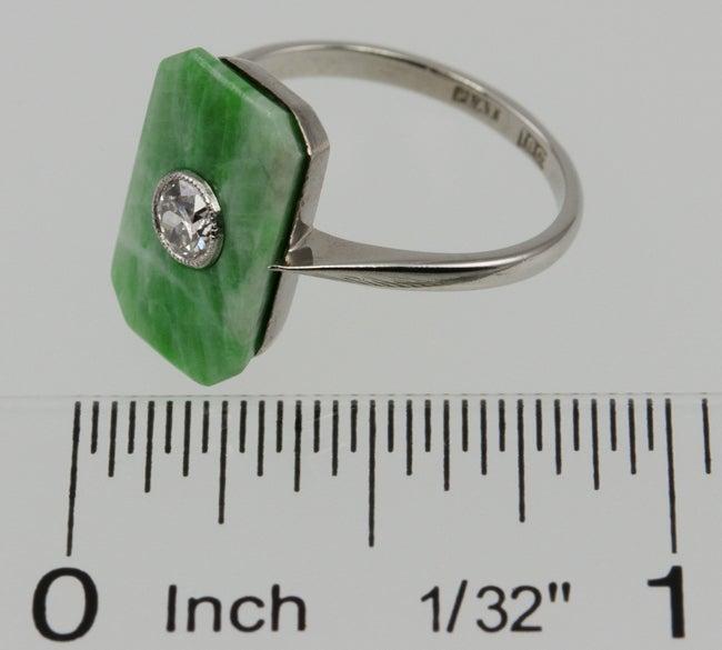 Deco Jade Diamond Ring image 2