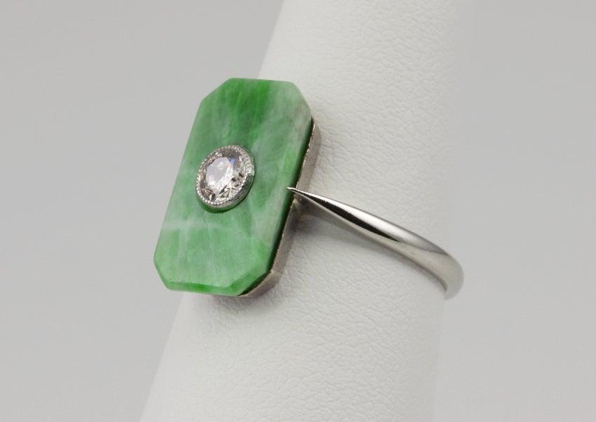 Deco Jade Diamond Ring image 4