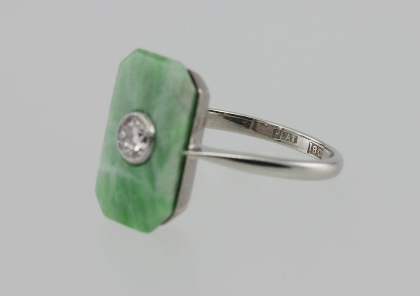 Deco Jade Diamond Ring image 5