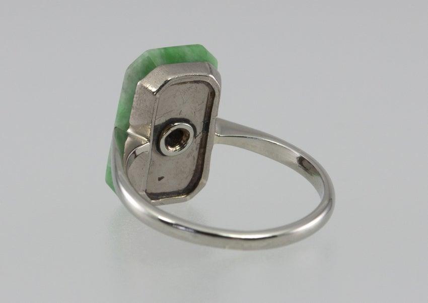 Deco Jade Diamond Ring image 6