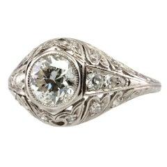 1CT Diamond Early 1900's Ring