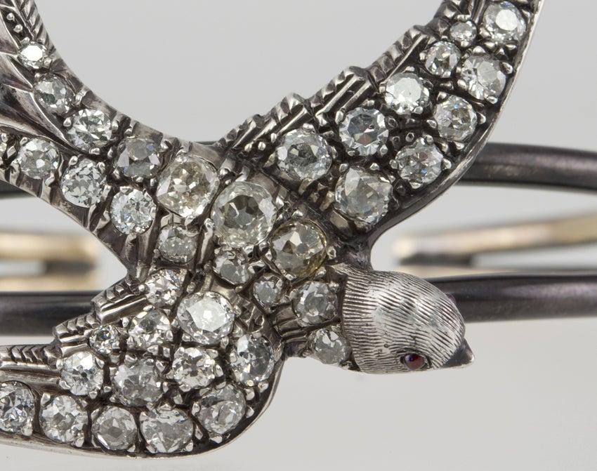 Georgian Diamond Bird Bracelet at 1stdibs