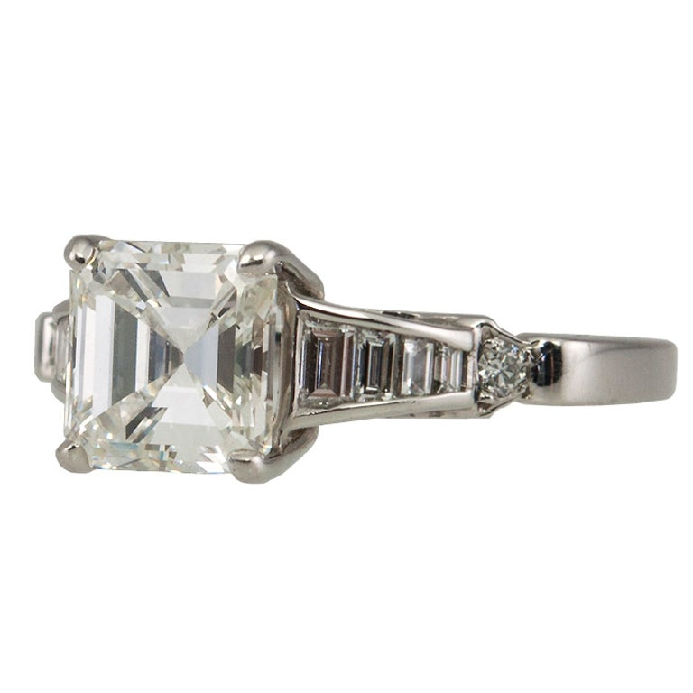 2 02 carat square emerald cut ring at 1stdibs