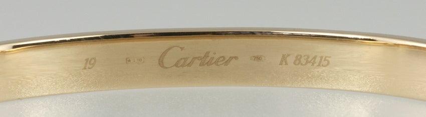 CARTIER LOVE Bangle Size 19 6