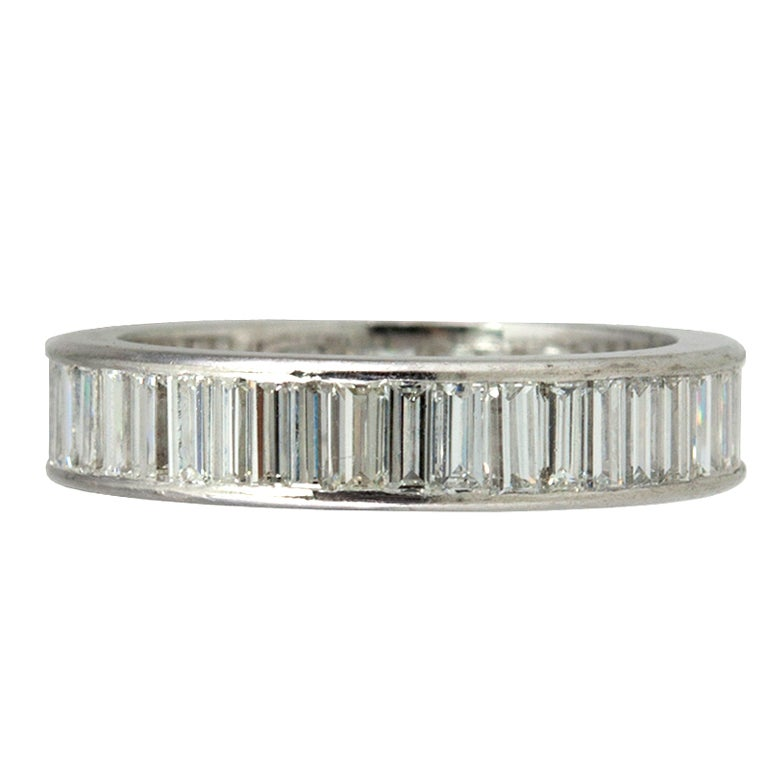 baguette eternity band at 1stdibs
