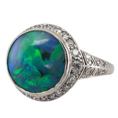 Emerald And Diamond Cocktail Ring For Sale At 1stdibs