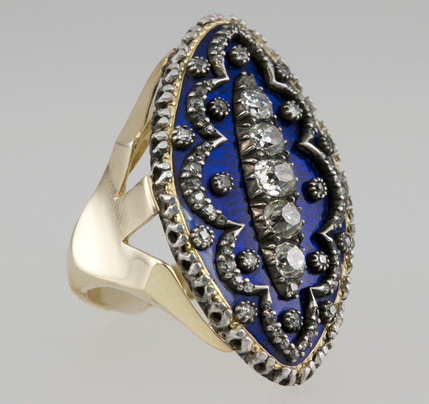 Early Victorian Enamel Ring Conversion 1