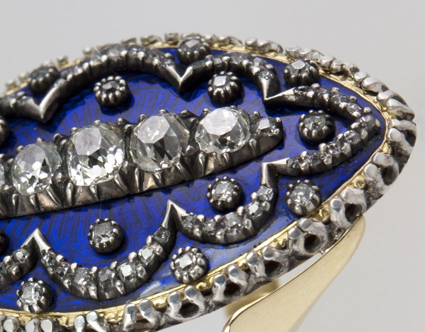 Early Victorian Enamel Ring Conversion 2