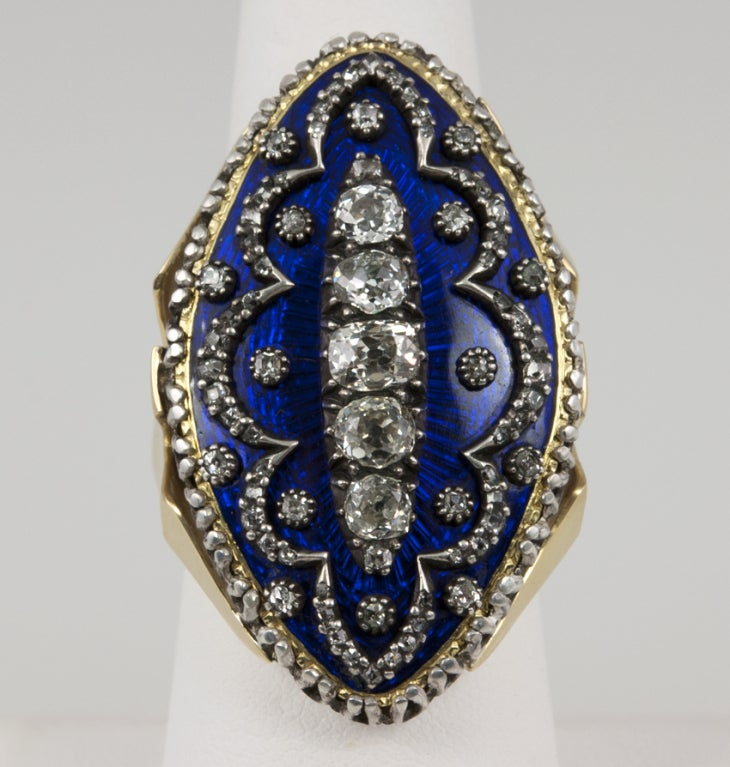 Early Victorian Enamel Ring Conversion 3