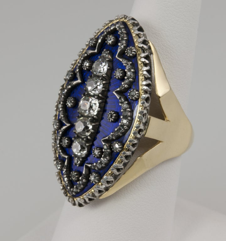 Early Victorian Enamel Ring Conversion 4