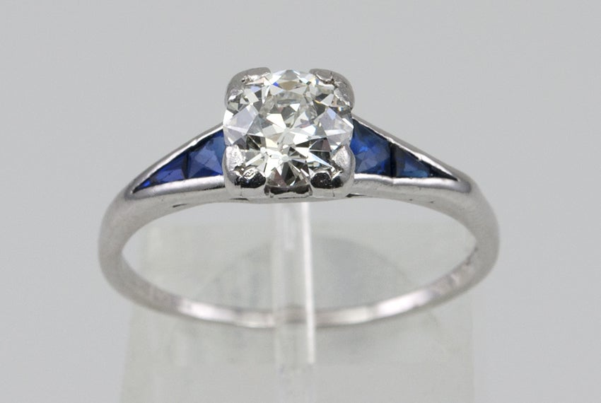 Sapphire Diamond Ring  For Sale 1