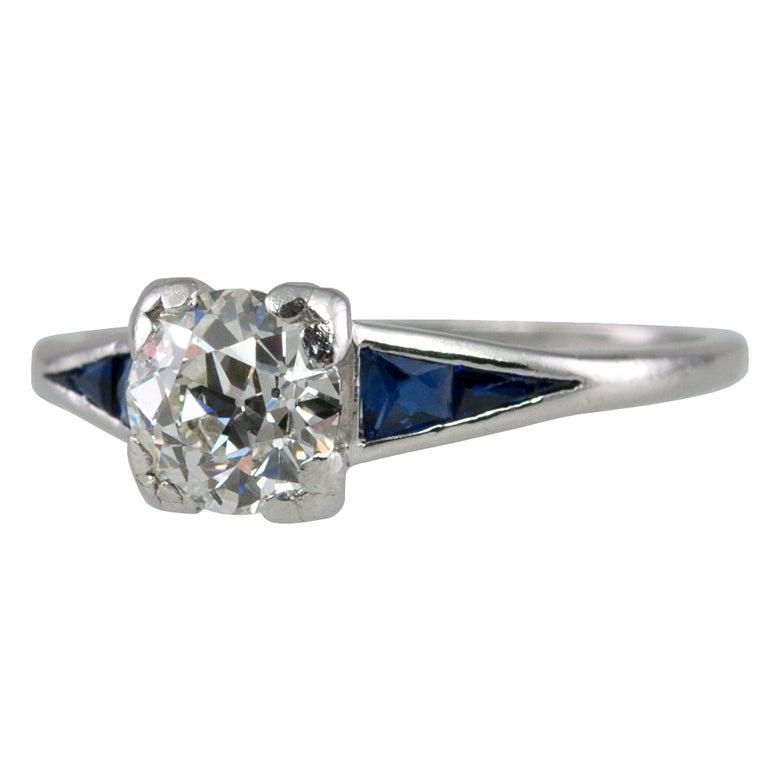 Sapphire Diamond Ring  For Sale