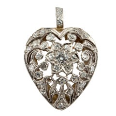 Diamond Cut Out Heart Pin/Pendant