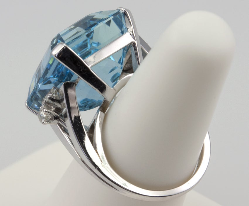 Large Aquamarine Ring For Sale 3