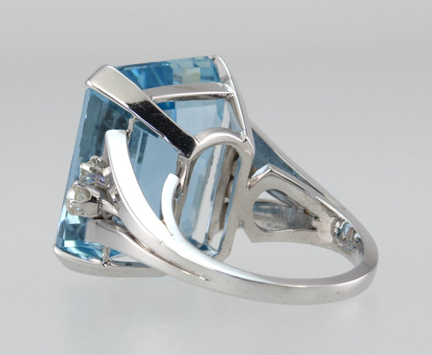 Large Aquamarine Ring For Sale 4