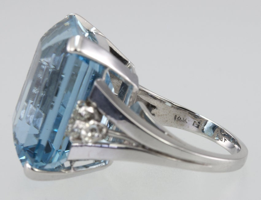 Large Aquamarine Ring For Sale 5