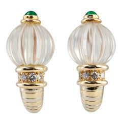 BOUCHERON Crystal Earrings