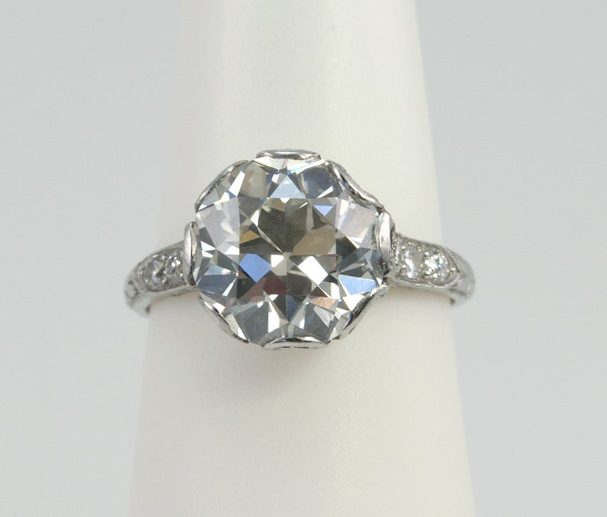Stdibs Old European Cut Diamond Engagement Ring