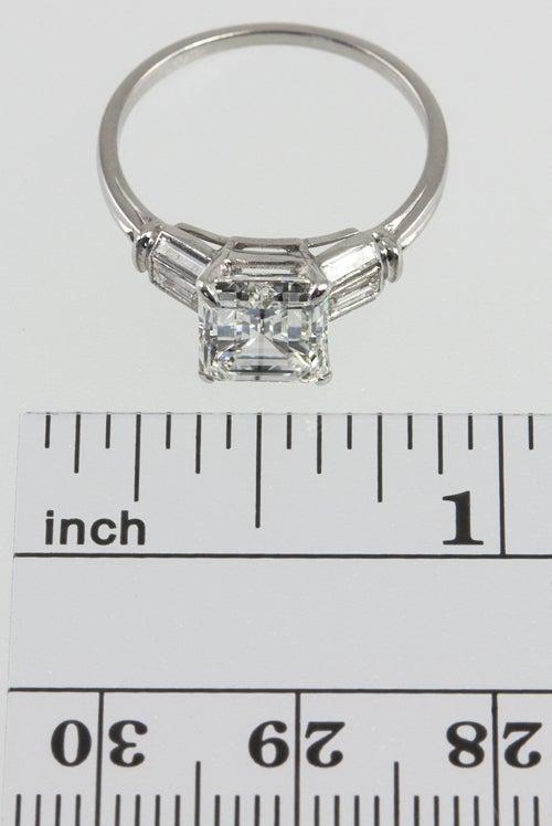 Beautiful 2.07 Carat Emerald Cut Diamond Ring image 2