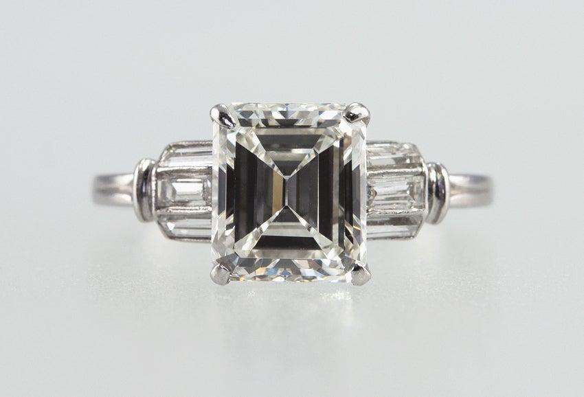 Beautiful 2.07 Carat Emerald Cut Diamond Ring image 3