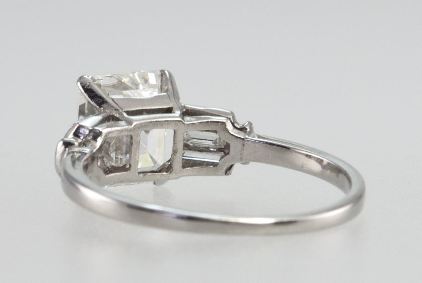Beautiful 2.07 Carat Emerald Cut Diamond Ring image 7