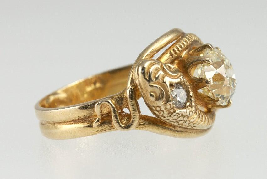 snake ring at 1stdibs