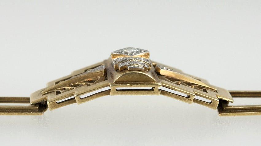Art Deco Egyptian Revival Link Bracelet 4