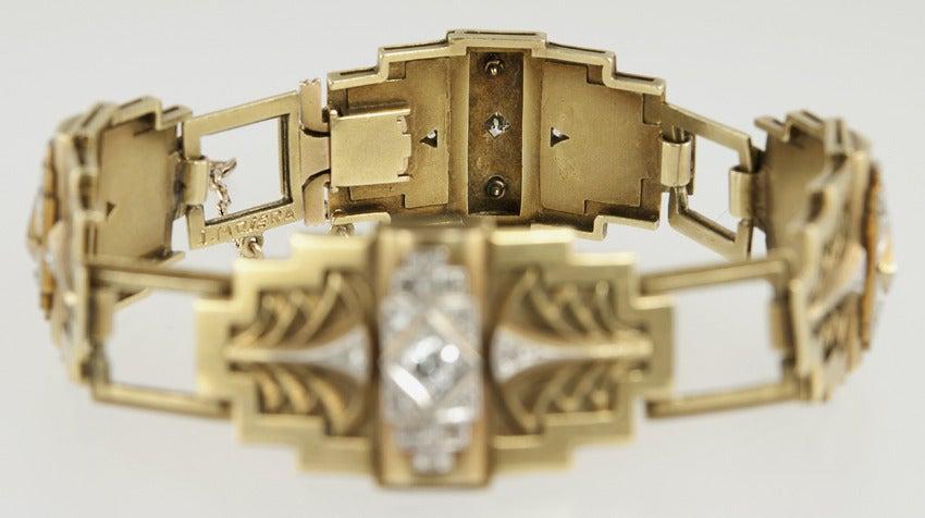 Art Deco Egyptian Revival Link Bracelet 5
