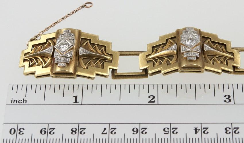 Art Deco Egyptian Revival Link Bracelet 6