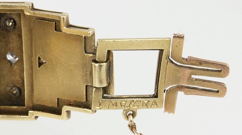 Art Deco Egyptian Revival Link Bracelet 7