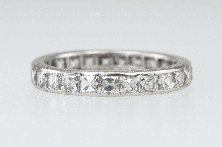 Tiffany And Co French Cut Diamond Eternity Band At 1stdibs