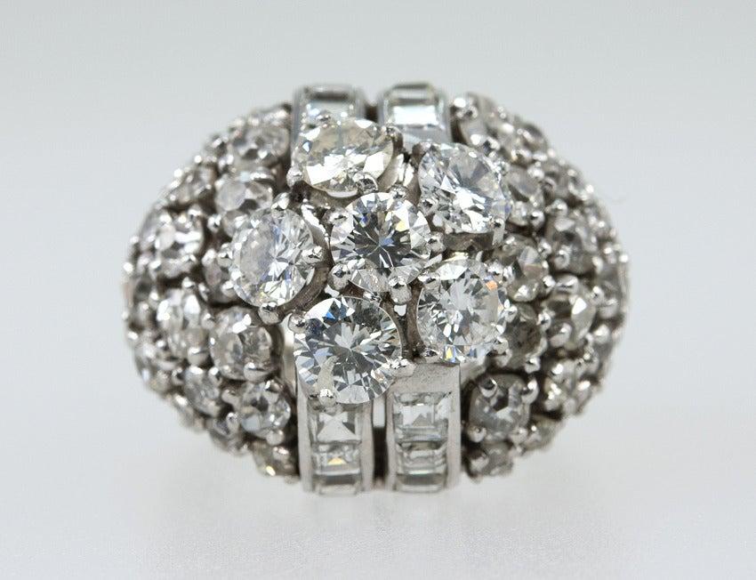 Diamond Platinum Dome Ring 4