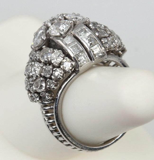 Diamond Platinum Dome Ring 6