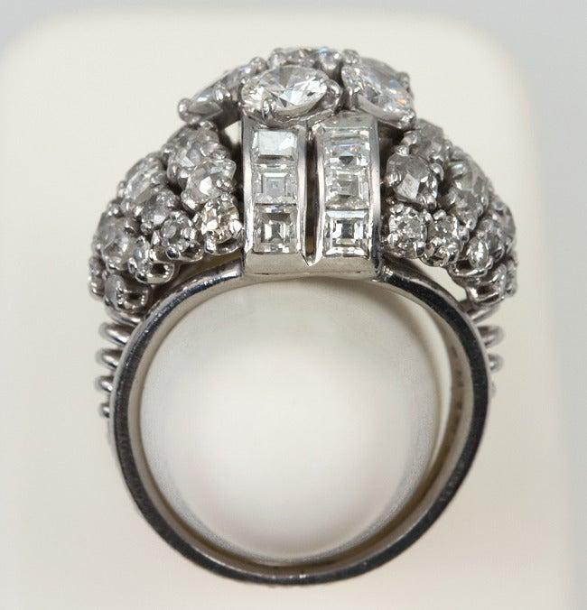 Diamond Platinum Dome Ring 7