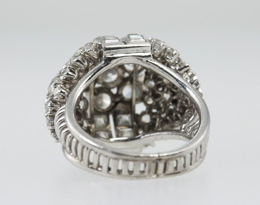 Diamond Platinum Dome Ring 8