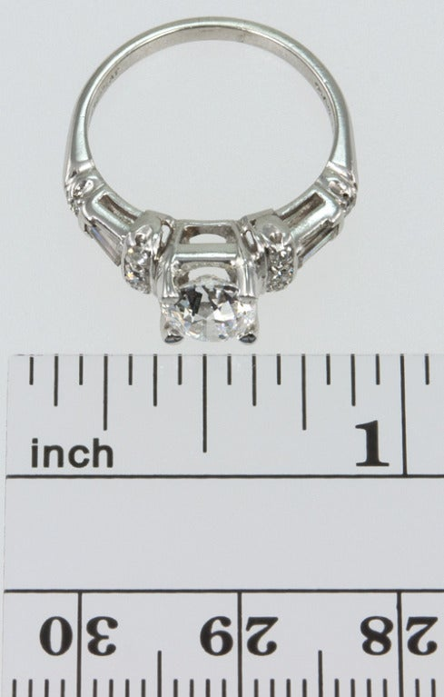 Art Deco Diamond Engagement Ring  2